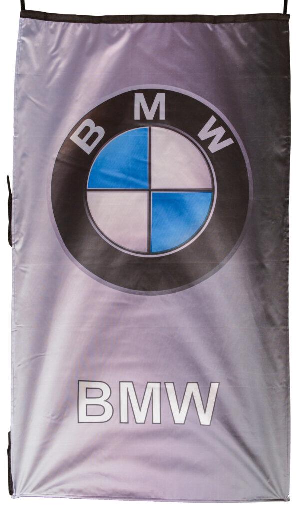 Flag  BMW Gray / Silver Vertical Black Flag / Banner 5 X 3 Ft (150 x 90 cm) (Copy) Automotive Flags