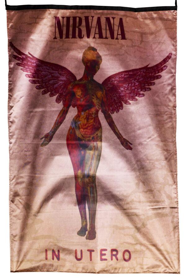 """Flag  Nirvana """"In Utero"""" Vertical Flag / Banner 5 X 3 Ft (150 x 90 cm) Music Flags"""