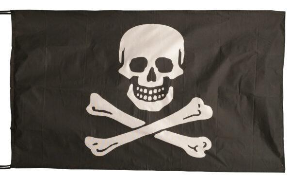 Flag  Pirate #01 Landscape Black Flag / Banner 5 X 3 Ft (150 x 90 cm) Pirate Flags