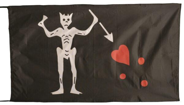 Flag  Pirate #02 Landscape Black Flag / Banner 5 X 3 Ft (150 x 90 cm) Pirate Flags