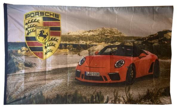 Flag  Porsche Landscape Flag / Banner 5 X 3 Ft (150 x 90 cm) #001 Automotive Flags