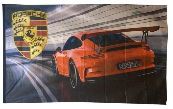 Flag  Porsche Landscape Flag / Banner 5 X 3 Ft (150 x 90 cm) #002 Automotive Flags