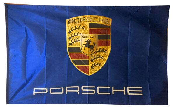 Flag  Porsche Landscape Blue Flag / Banner 5 X 3 Ft (150 x 90 cm) Automotive Flags