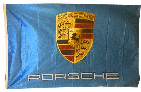 Flag  Porsche Landscape Cyan Flag / Banner 5 X 3 Ft (150 x 90 cm) Automotive Flags