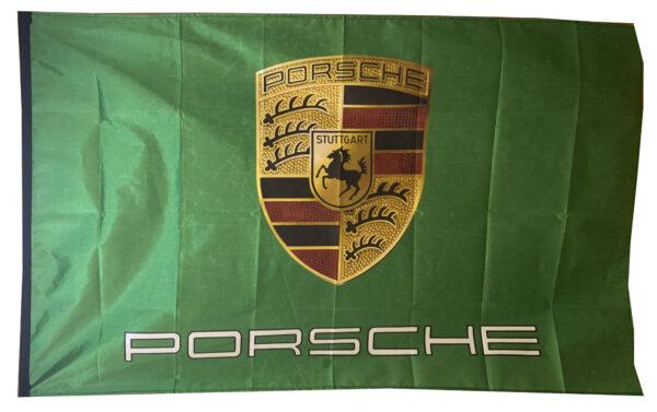 Flag  Porsche Landscape Green Flag / Banner 5 X 3 Ft (150 x 90 cm) Automotive Flags