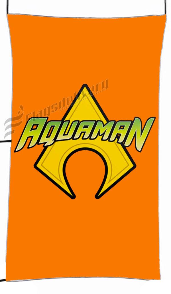Flag  Aquaman Orange Vertical Flag / Banner 5 X 3 Ft (150 X 90 Cm) TV, Movies & Celebrities Flags
