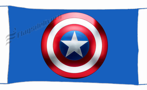 Flag  Captain America Blue Landscape Flag / Banner 5 X 3 Ft (150 x 90 cm) TV, Movies & Celebrities Flags