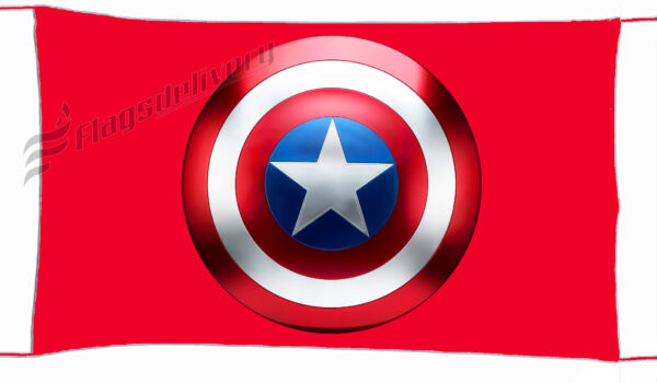 Flag  Captain America Red Landscape Flag / Banner 5 X 3 Ft (150 x 90 cm) TV, Movies & Celebrities Flags