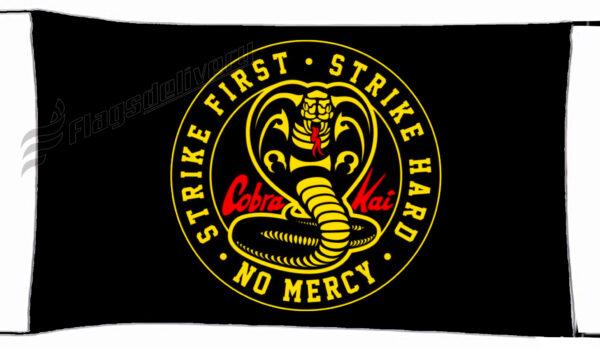 Flag  Cobra Kai 1 Black Landscape Flag / Banner 5 X 3 Ft (150 X 90 Cm) TV, Movies & Celebrities Flags