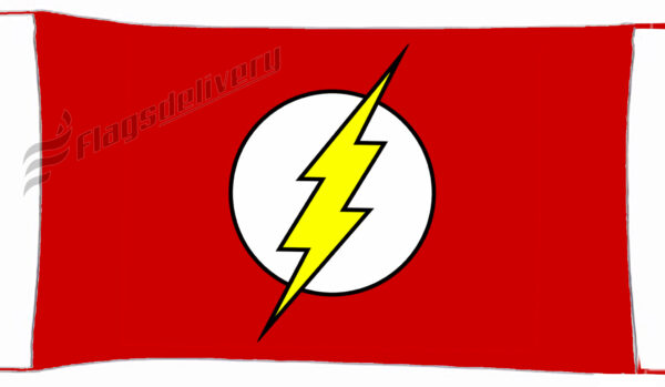 Flag  Flash Red Landscape Flag / Banner 5 X 3 Ft (150 X 90 Cm) TV, Movies & Celebrities Flags