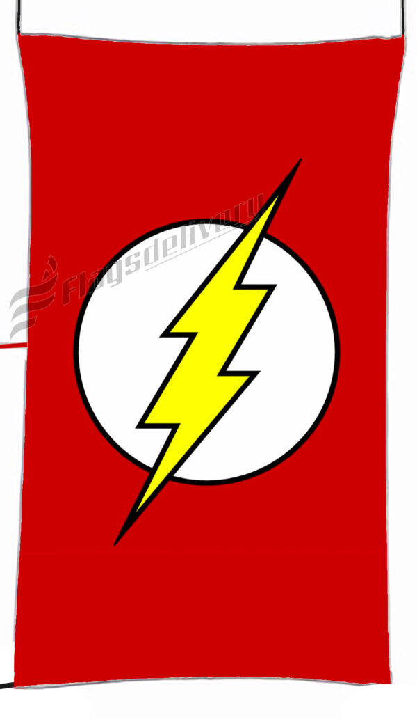 Flag  Flash Red Vertical Flag / Banner 5 X 3 Ft (150 X 90 Cm) TV, Movies & Celebrities Flags