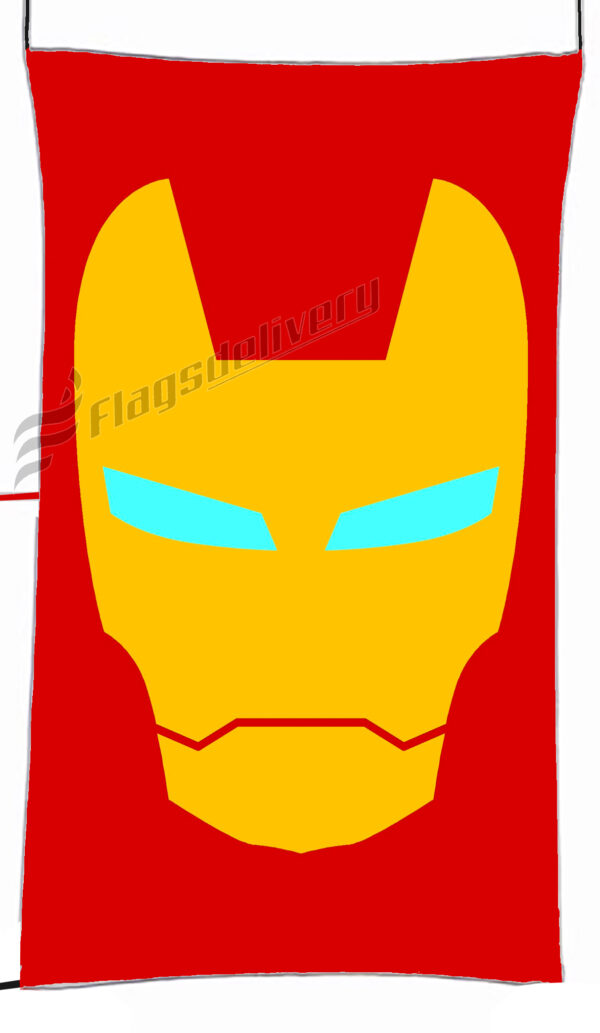 Flag  Iron Man Red Vertical Flag / Banner 5 X 3 Ft (150 X 90 Cm) TV, Movies & Celebrities Flags