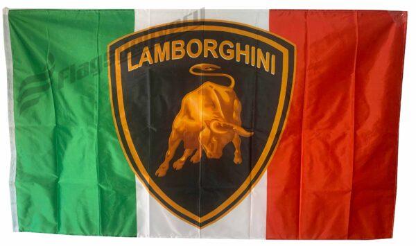 Flag  Lamborghini Landscape Italy Flag / Banner 5 X 3 Ft (150 x 90 cm) Automotive Flags