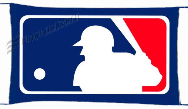Flag  Mlb Logo Major League Baseball Landscape Flag / Banner 5 X 3 Ft (150 X 90 Cm) Sport Flags