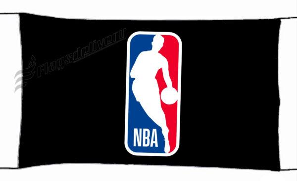 Flag  NBA Logo Black Landscape Flag / Banner 5 X 3 Ft (150 x 90 cm) Sport Flags