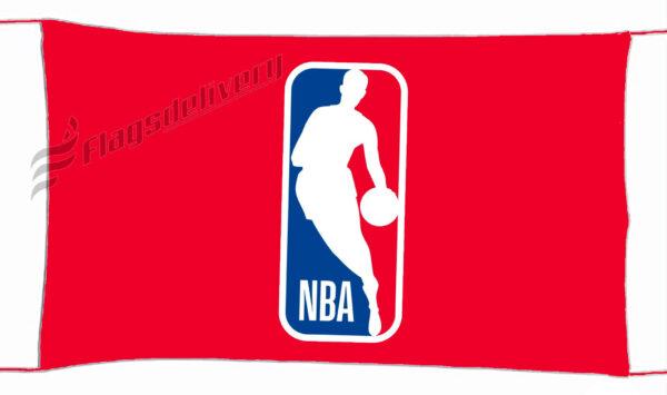 Flag  NBA Logo Red Landscape Flag / Banner 5 X 3 Ft (150 x 90 cm) Sport Flags