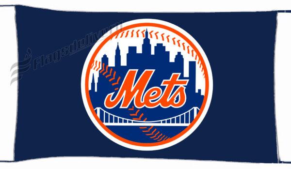 Flag  New York Mets Ny Blue Landscape Flag / Banner 5 X 3 Ft (150 X 90 Cm) Sport Flags