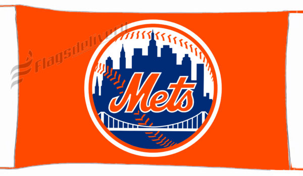 Flag  New York Mets Ny Orange Landscape Landscape Flag / Banner 5 X 3 Ft (150 X 90 Cm) Sport Flags