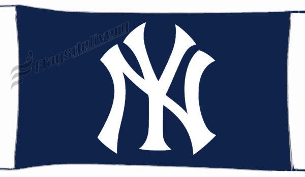 Flag  New York Yankees Ny Blue Landscape Flag / Banner 5 X 3 Ft (150 X 90 Cm) Sport Flags
