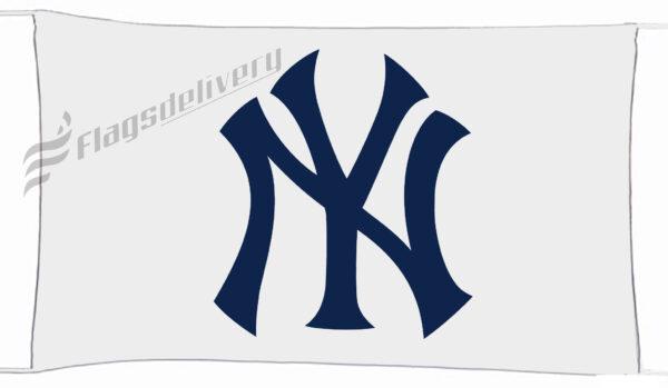 Flag  New York Yankees Ny White Landscape Flag / Banner 5 X 3 Ft (150 X 90 Cm) Sport Flags