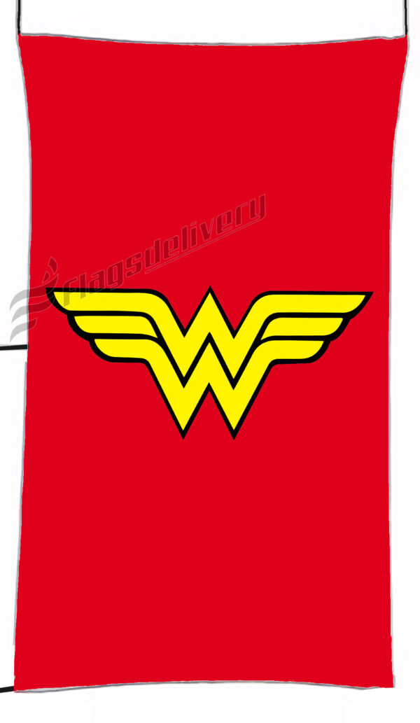 Flag  Wonder Woman Red Vertical Flag / Banner 5 X 3 Ft (150 X 90 Cm) TV, Movies & Celebrities Flags