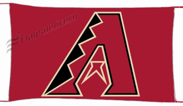 Flag  Arizona Diamondbacks Red Landscape Flag / Banner 5 X 3 Ft (150 X 90 Cm) Sport Flags