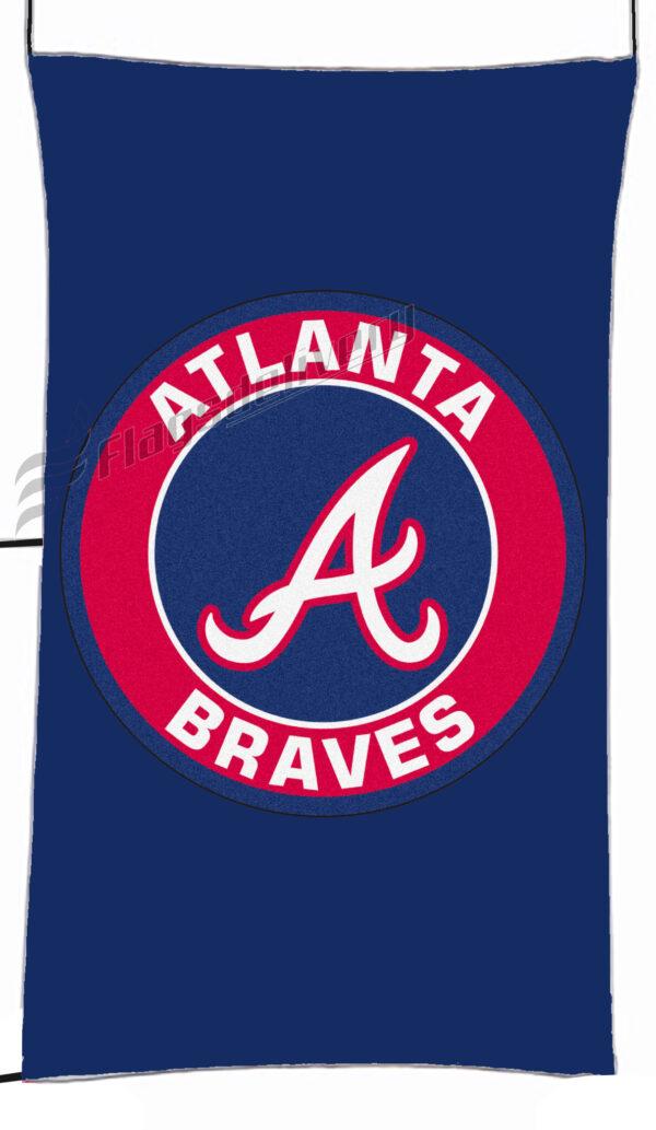 Flag  Atlanta Braves Blue Vertical?Flag / Banner 5 X 3 Ft (150 X 90 Cm) Sport Flags