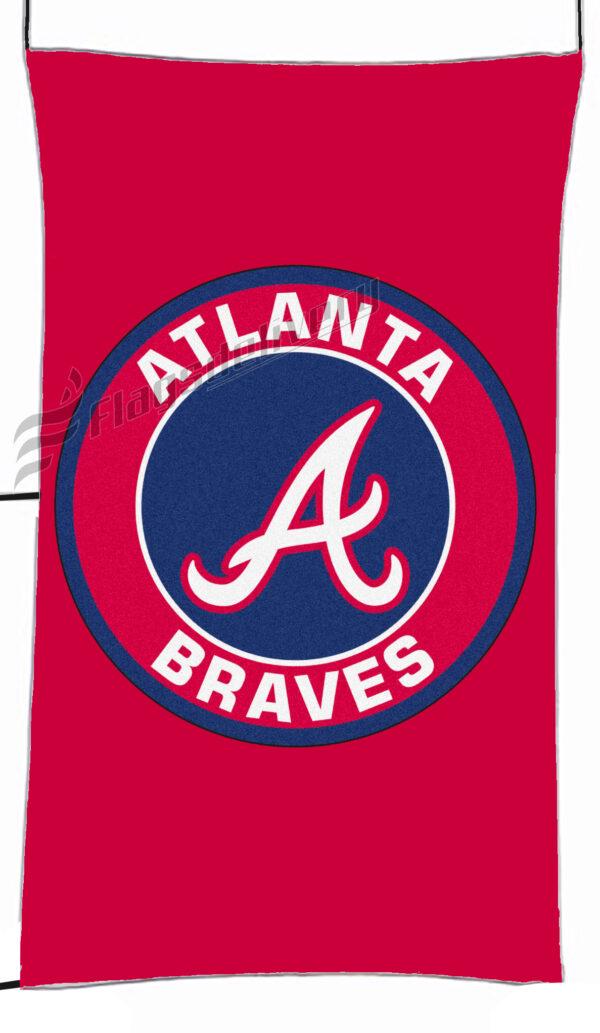 Flag  Atlanta Braves Red Vertical Flag / Banner 5 X 3 Ft (150 X 90 Cm) Sport Flags