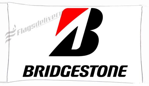 Flag  Bridgestone White Landscape Flag / Banner 5 X 3 Ft (150 X 90 Cm) Advertising Flags