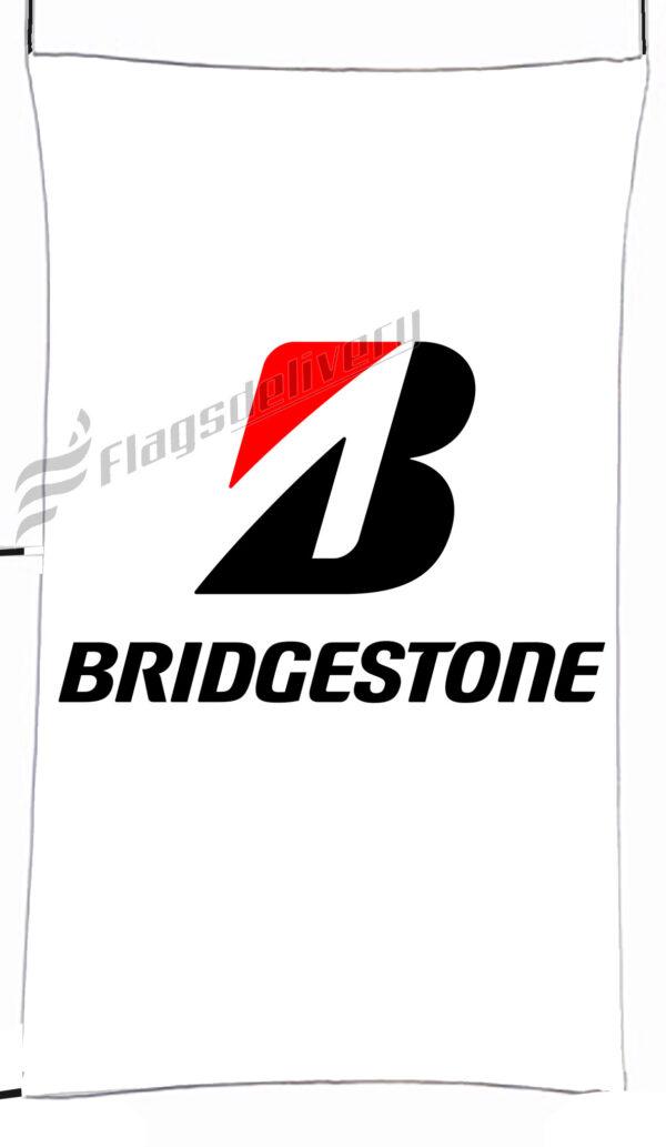 Flag  Bridgestone White Vertical Flag / Banner 5 X 3 Ft (150 X 90 Cm) Advertising Flags