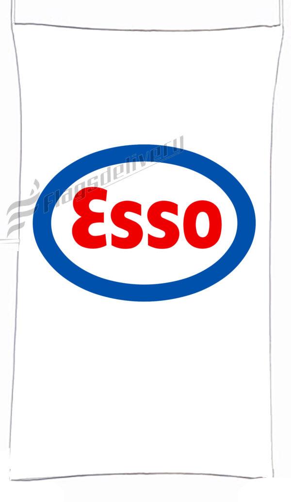 Flag  Esso White Vertical Flag / Banner 5 X 3 Ft (150 X 90 Cm) Advertising Flags