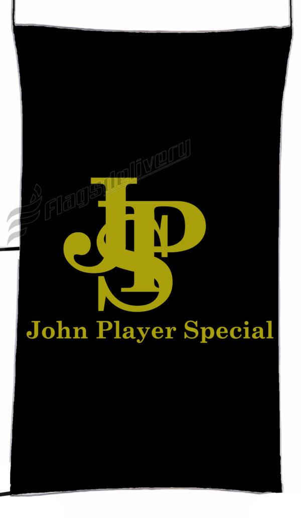 Flag  John Player Special Black Yellow Vertical Flag / Banner 5 X 3 Ft (150 X 90 Cm) Advertising Flags