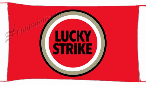 Flag  Lucky Strike Red Landscape Flag / Banner 5 X 3 Ft (150 X 90 Cm) Advertising Flags