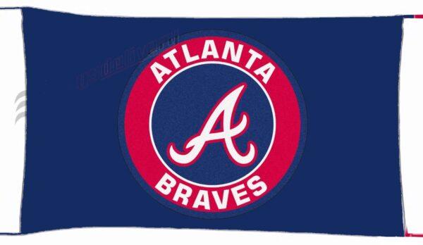 Flag  Atlanta Braves Blue Landscape Flag / Banner 5 X 3 Ft (150 X 90 Cm) Sport Flags