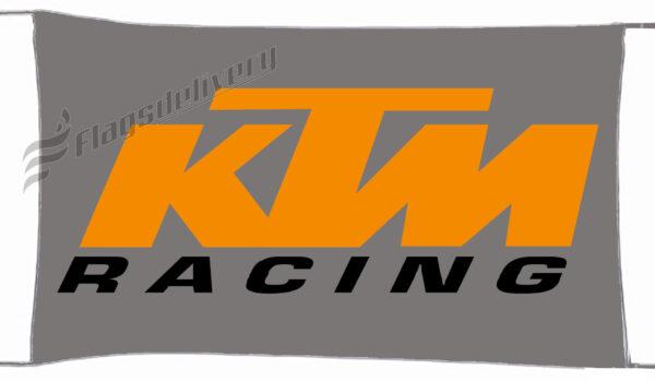 Flag  KTM Racing Gray / Grey Landscape Flag / Banner 5 X 3 Ft (150 x 90 cm) KTM