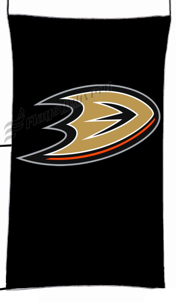 Flag  Anaheim Ducks Black Vertical Flag / Banner 5 X 3 Ft (150 X 90 Cm) Sport Flags