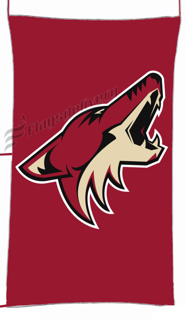 Flag  Arizona Coyotes Red Vertical Flag / Banner 5 X 3 Ft (150 X 90 Cm) Sport Flags