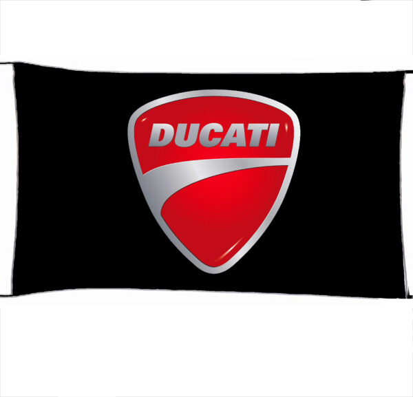 Flag  Ducati 3D Black Landscape Flag / Banner 5 X 3 Ft (150 X 90 Cm) Ducati