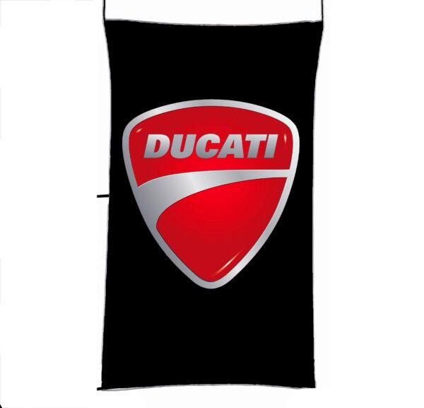 Flag  Ducati 3D Black Vertical Flag / Banner 5 X 3 Ft (150 X 90 Cm) Ducati
