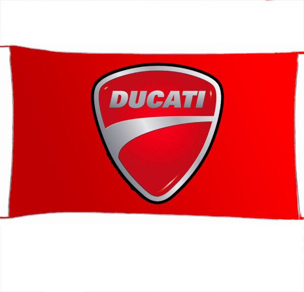 Flag  Ducati 3D Red Landscape Flag / Banner 5 X 3 Ft (150 X 90 Cm) Ducati
