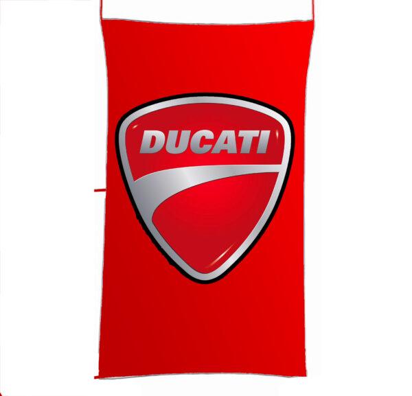 Flag  Ducati 3D Red Vertical Flag / Banner 5 X 3 Ft (150 X 90 Cm) Ducati