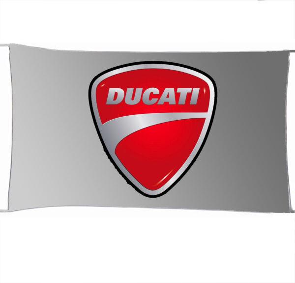 Flag  Ducati 3D Silver Landscape Flag / Banner 5 X 3 Ft (150 X 90 Cm) Ducati