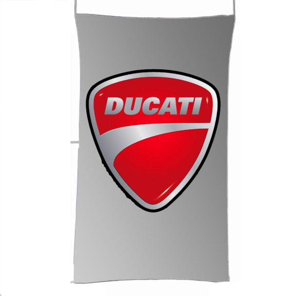 Flag  Ducati 3D Silver Vertical Flag / Banner 5 X 3 Ft (150 X 90 Cm) Ducati