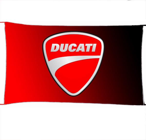 Flag  Ducati Red Black Landscape Flag / Banner 5 X Ft (150 X 90 Cm) Ducati