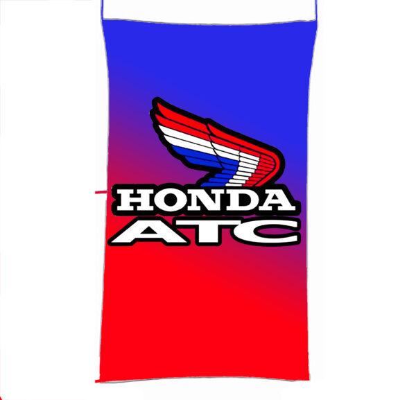 Flag  Honda ATC Vertical Blue & Red Flag / Banner 5 X 3 Ft (150 x 90 cm) Automotive Flags
