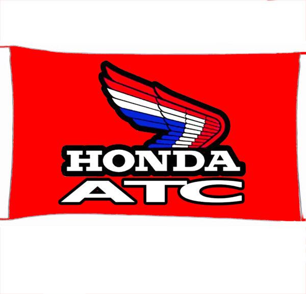 Flag  Honda ATC Landscape Red Flag / Banner 5 X 3 Ft (150 x 90 cm) Automotive Flags