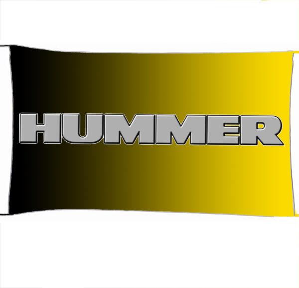 Flag  Hummer 3D Yellow Black Landscape Flag / Banner 5 X 3 Ft (150 X 90 Cm) Automotive Flags