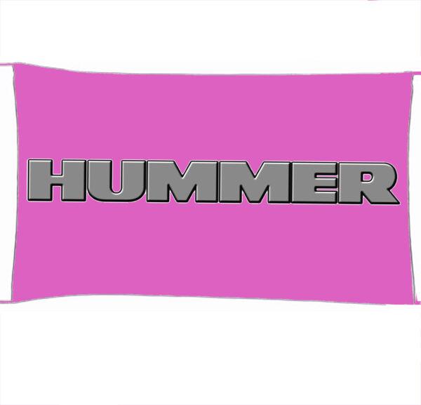 Flag  Hummer 3D Pink Landscape Flag / Banner 5 X 3 Ft (150 X 90 Cm) Automotive Flags