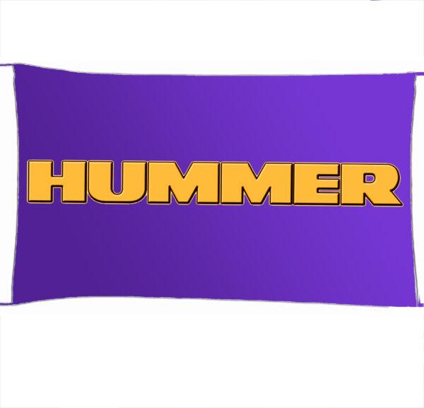 Flag  Hummer 3D Purple Landscape Flag / Banner 5 X 3 Ft (150 X 90 Cm) Automotive Flags