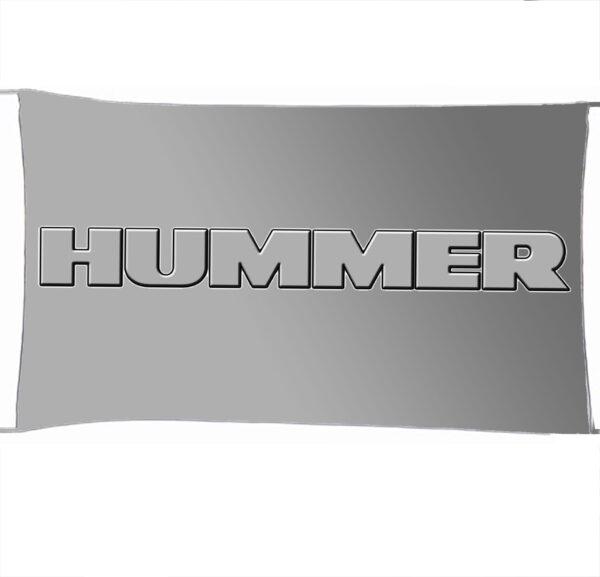 Flag  Hummer 3D Silver Landscape Flag / Banner 5 X 3 Ft (150 X 90 Cm) Automotive Flags